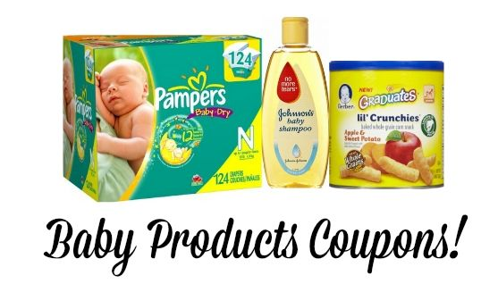 HUGE List of current Printable Baby Coupons | Pampers, Gerber, Johnson's, and More!