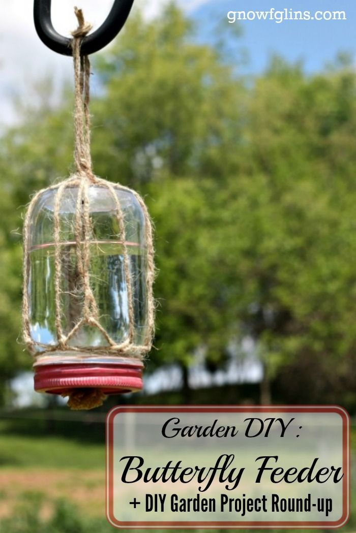Garden DIY Butterfly Feeder | This simple DIY butterfly feeder makes a wonderful addition to any garden or flower bed. Records show that the...