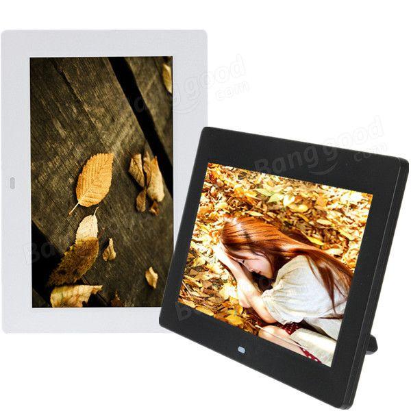 10 Inch HD TFT-LCD Digital Photo Movies Frame MP4 Player Alarm Clock - US$58.28