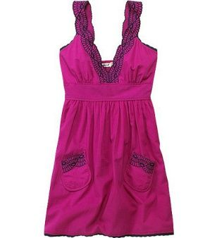 adorable PURPLE spring dress! not my favorite color but adorable none the less.