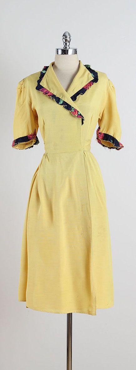 yellow 40s dress 4 heaven