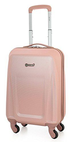 20742e7d9 From 17.99:5 Cities Lightweight Abs Hard Shell Carry On Cabin Hand Luggage  Suitcase With