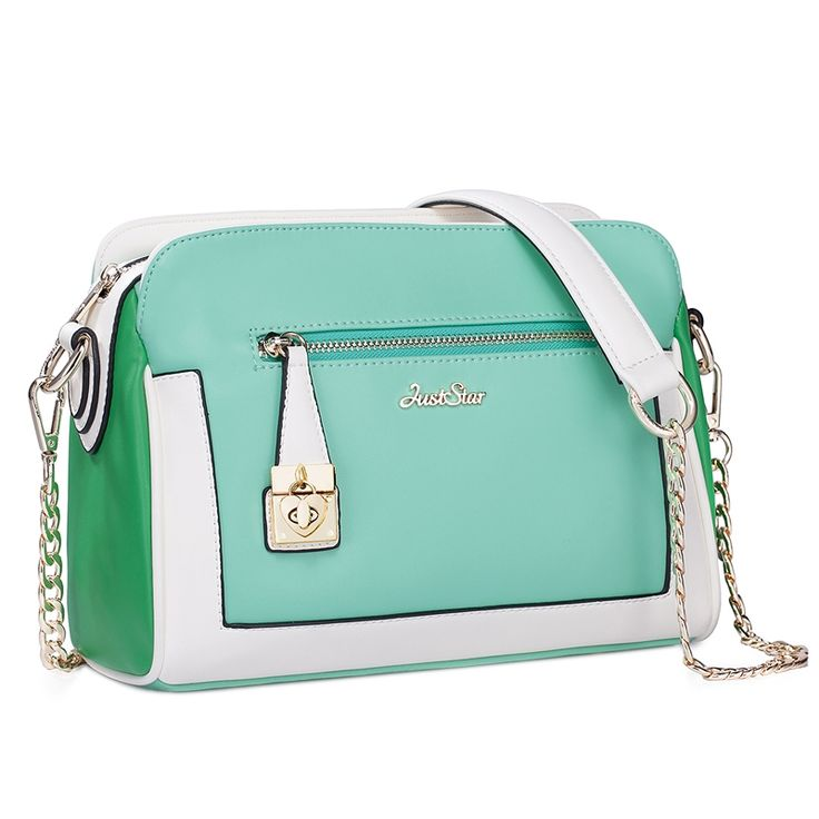 Hit Color Heart Lock Chain Shoulder - Messenger Bag (Green)