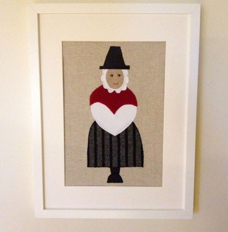 Handmade Welsh lady applique picture by SeaforthDesigns on Etsy https://www.etsy.com/listing/255109257/handmade-welsh-lady-applique-picture