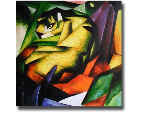 """Berühmte Meisterwerke für Ihr Zuhause. Gemäldereproduktion von paintify.de - """"Der Tiger"""" (Franz Mark)"""