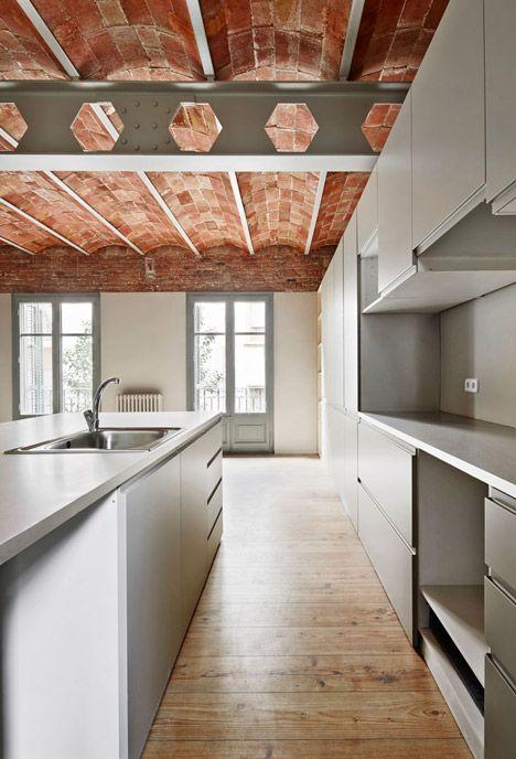 Vaulted brick ceilings revealed inside renovated Barcelona apartment - Dezeen » Interiors