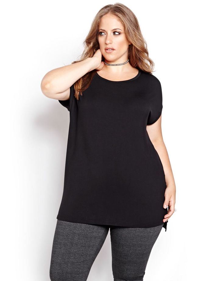 A plus size tee that's well built and simple from the Michel Studio…