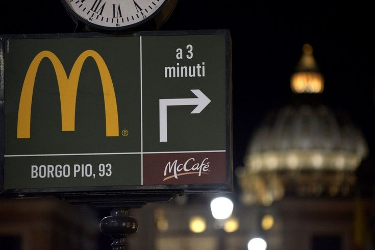 It seems that the controversial McDonald's location is trying to get on its new neighbor's good side.