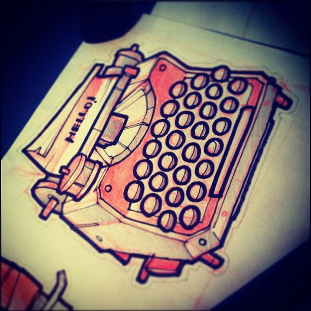 #tattoo #tattooflash #sketch #typewriter
