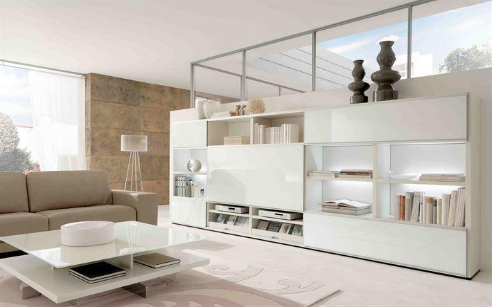 Scarica sfondi Soggiorno, design moderno, idee per il soggiorno, in stile moderno, con arredamento Moderno