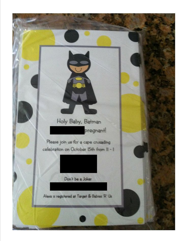 baby shower batman it 39 s for my kid a baby shower