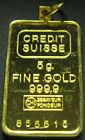 5 gram Credit Suisse Gold Bar 999.9 Fine Gold Bar Check It Out #goldbar #creditsuisse #gramgold