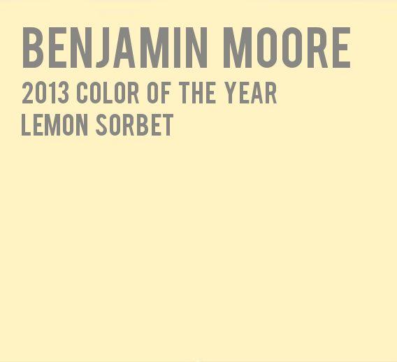 Lemon Benjamin Moore And Chiffon On Pinterest