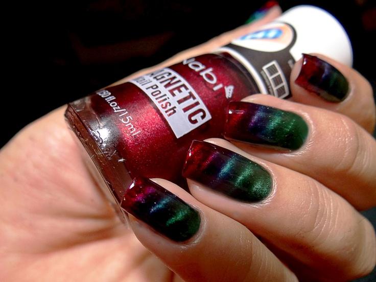 Esmaltes da Kelly: Gradiente Nails, Magnéticos