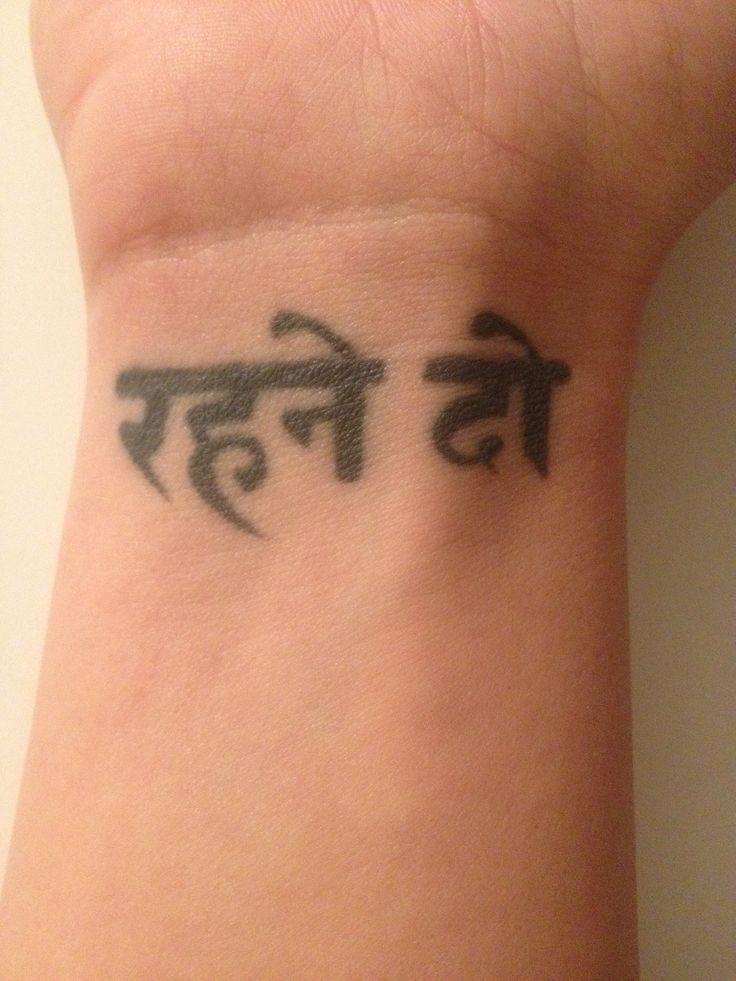 Let it Be written in Hindi wrist tattoo