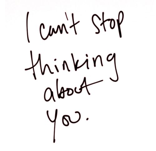 I cant stop thinking about you #quote