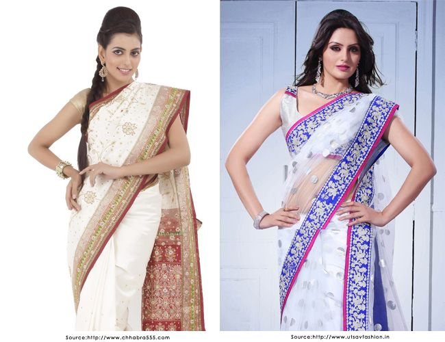 White Sarees - The Epitome of Grace and Divinity