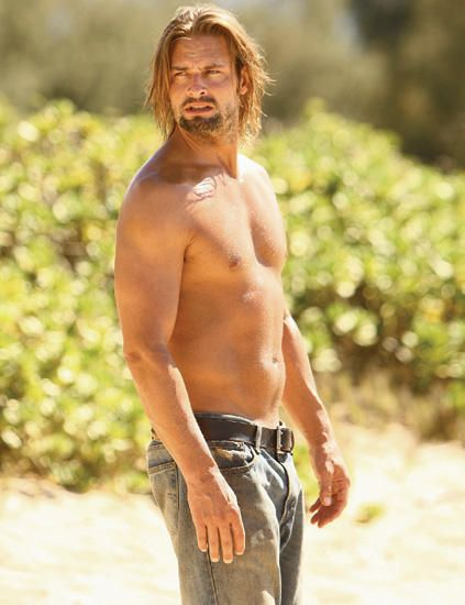 Josh Holloway -God in heaven! Someone hold me -now! I think it may be time for me to watch all of LOST again.