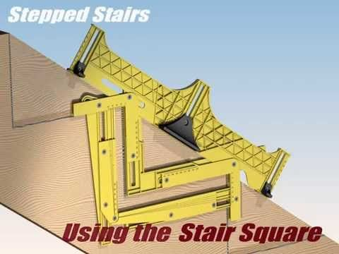 Carpentry: New Cool Tools for Carpentry Stair Square - YouTube