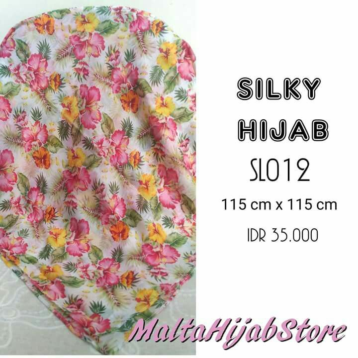 Silky Hijab Material: Cotton Silk Follow us for more updates @maltahijab_store
