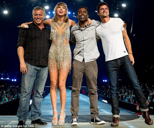 Fan club: While Hilary didn't get an invite on stage, Taylor instead performed with Friend...