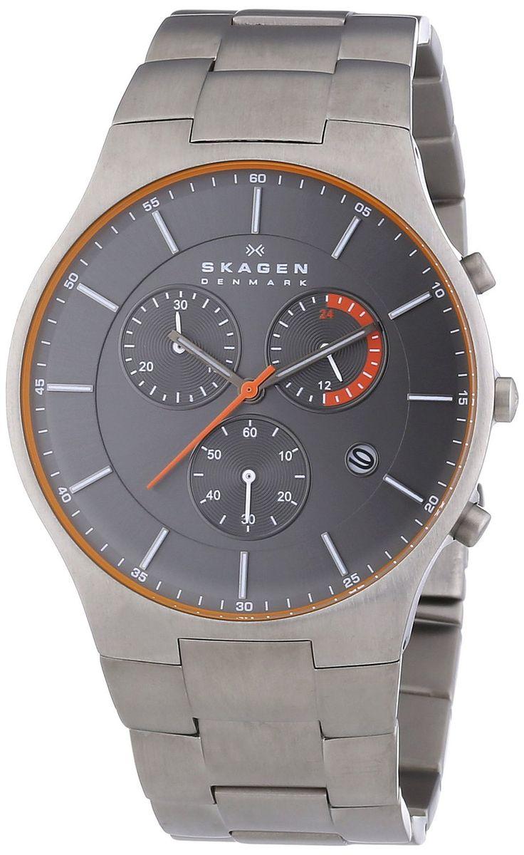 Skagen SKW6076 Men's Denmark Balder Aktiv Grey Dial Titanium Bracelet…