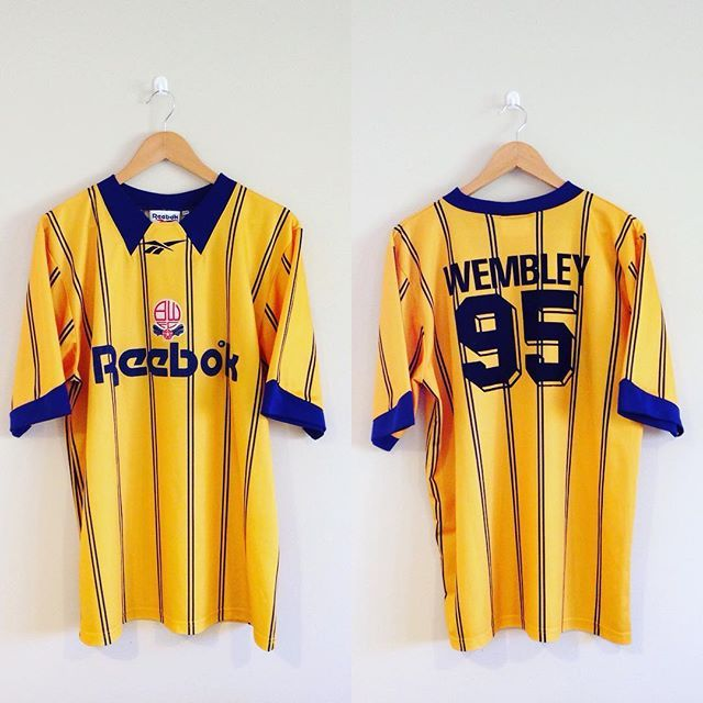A real 90s Classic on sale - Bolton wanderers reebok away shirt 1994/96 seasons with Wembley 95 on the back to celebrate their promotion to the premierleague! Link in bio to purchase #bwfc #bolton #boltonwanderers #reebok #football #footballshirt #retro #retroshirt #retrofootball #vintage #vintagereebok #vintagefootball #vintagefootballshirt #premierleague #premiership #90s #90svintage #90sfootball #soccer #soccerjersey #englishfootball