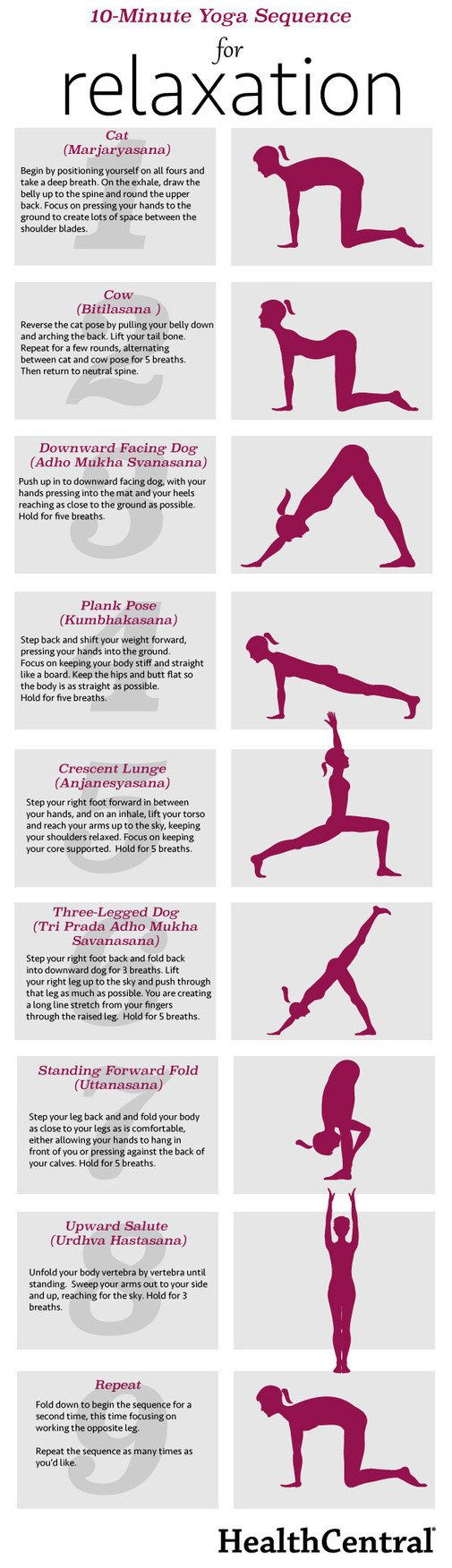 Try doing this yoga routine when life has you all worked up. | 26 Diagrams That'll Help You Be Way Happier