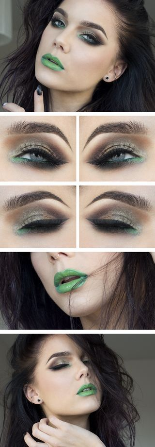 This would be a cool look to do for Halloween if you wanted to do an easy, no green body paint Elphaba (Wicked).