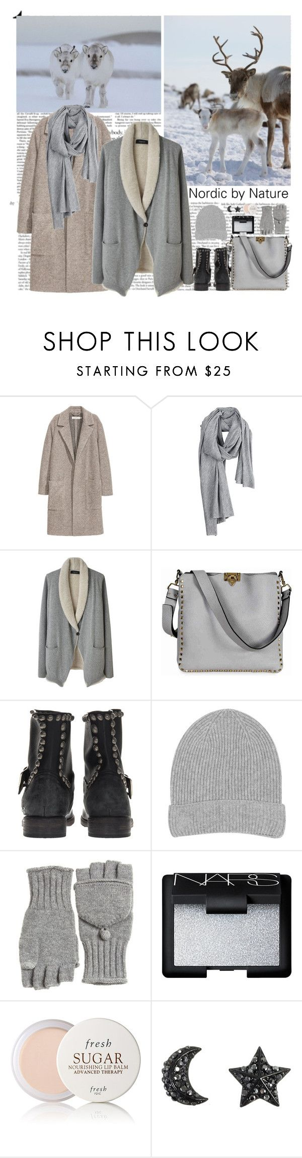 """Nordic by Nature"" by helena99 ❤ liked on Polyvore featuring Organic, Thakoon, Valentino, Mr. Wolf, Warehouse, Calypso St. Barth, NARS Cosmetics, Fresh, Winter and reindeers"