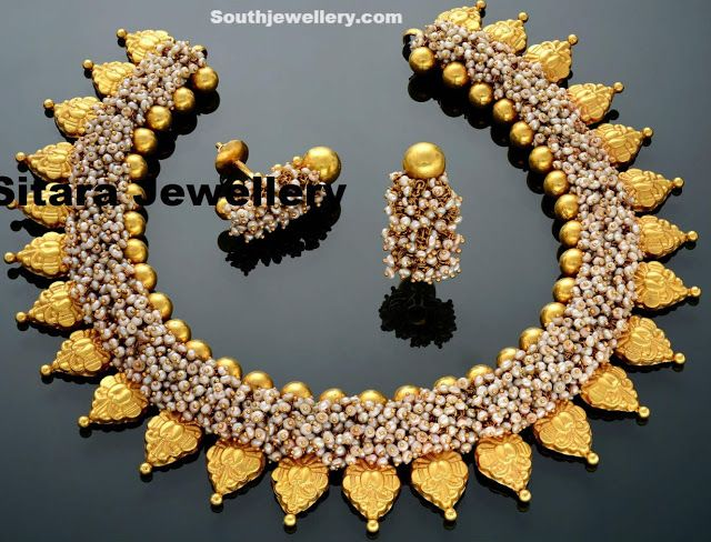 Unique Pearls necklace by Sitara Jewellers - Indian Jewellery Designs South Jewellery