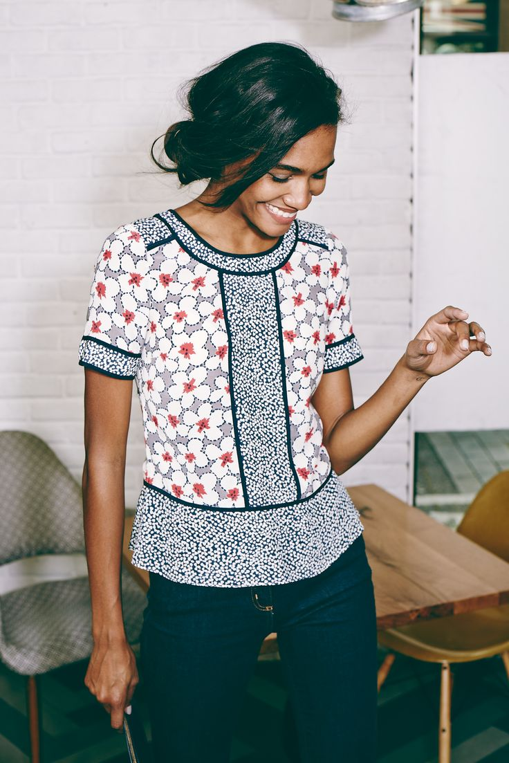 With my white jeans, or white linen pants. Boden Alison Top. #SS15