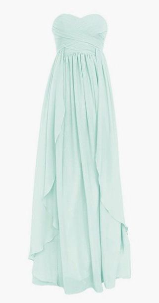 Sweetheart Long Chiffon Dress