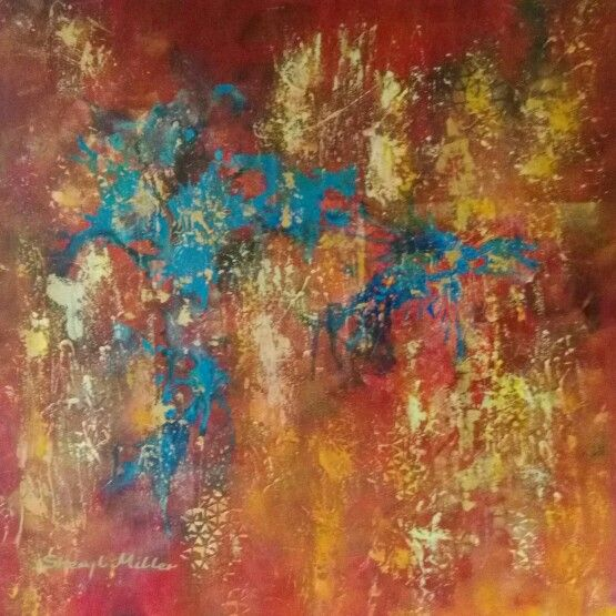 Colour Explosion  abstract by Sheryl Miller