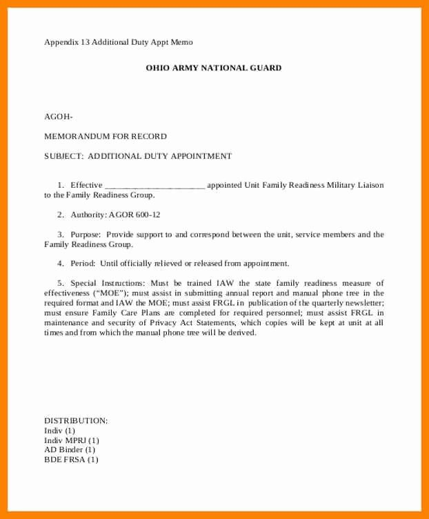 Army Memorandum For Record Template Lovely 15 Memorandum Of Record Army Memorandum Memo Template Memorandum Template