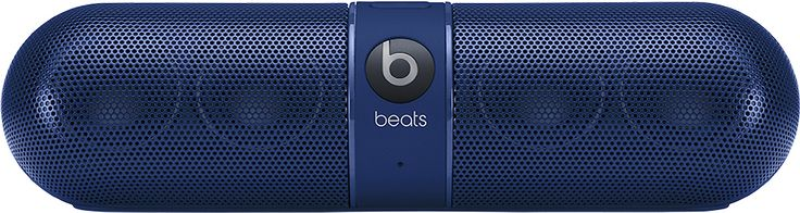 Beats by Dr. Dre - Geek Squad Certified Refurbished Beats Pill 2.0 Portable Stereo Speaker - Blue, GS-MHA02AM/A