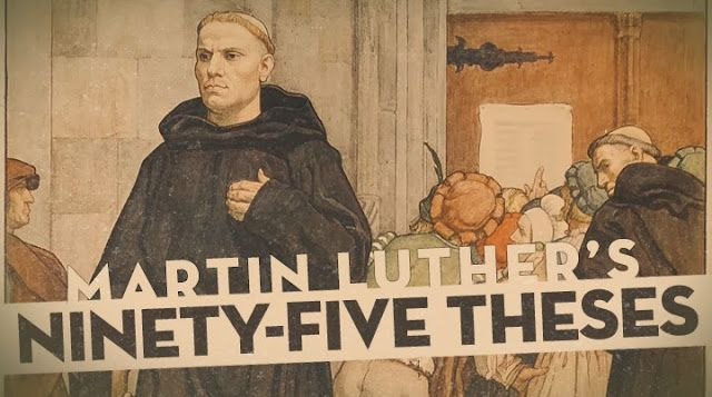what were the 95 theses all about The ninety-five theses is a text that everyone knows, most refer to, but few  i knew the basic facts: martin luther nailed his 95 theses to the door of the church .