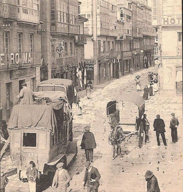 La Ferrocarrilana en la Rua Nueva / La Coruña Antigua