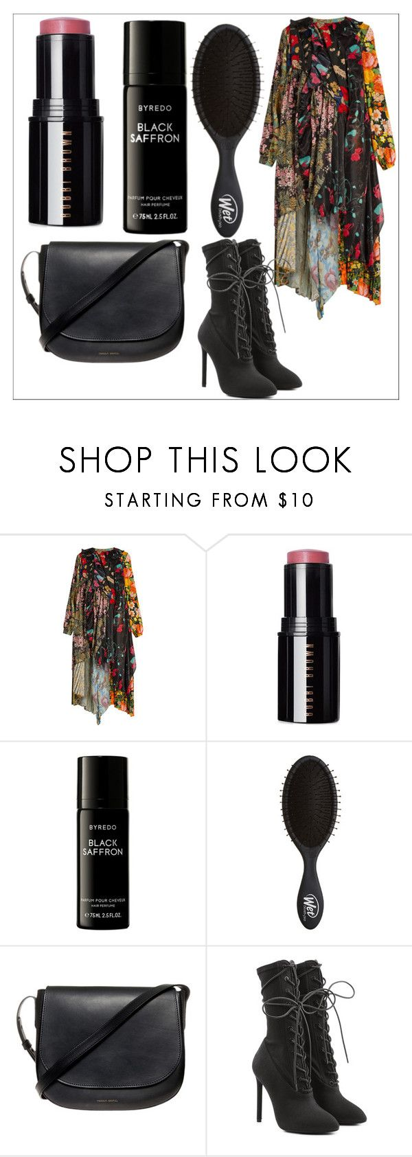 """""""Thursday's outfit 10/19/17"""" by feralkind ❤ liked on Polyvore featuring Balenciaga, Bobbi Brown Cosmetics, Liberty, Mansur Gavriel and Yeezy by Kanye West"""