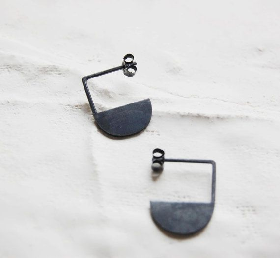 "XMAS Gift 20%off Oxidized silver geometrics pendants earrings ""Les géométriques"" Nro11 on Etsy, $56.34"