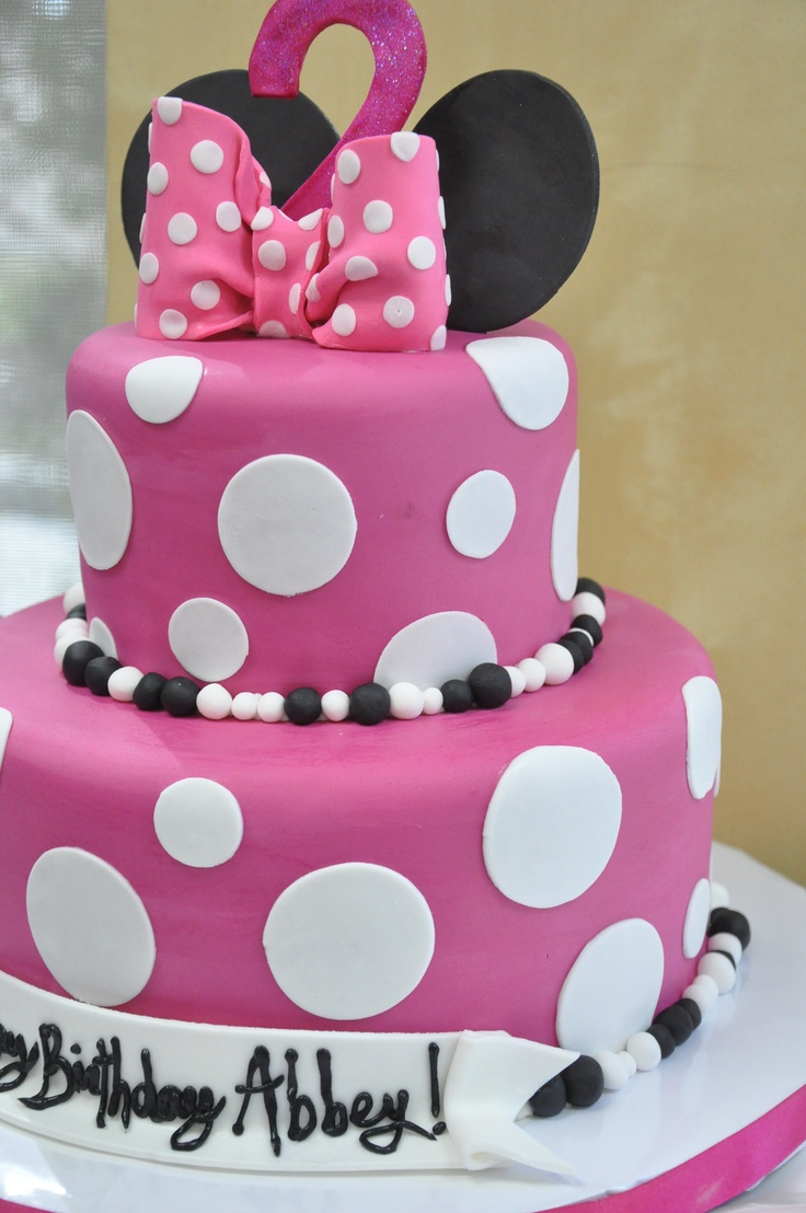 minnie mouse birthday cakes 2nd birthday cakes minnie mouse cake ...