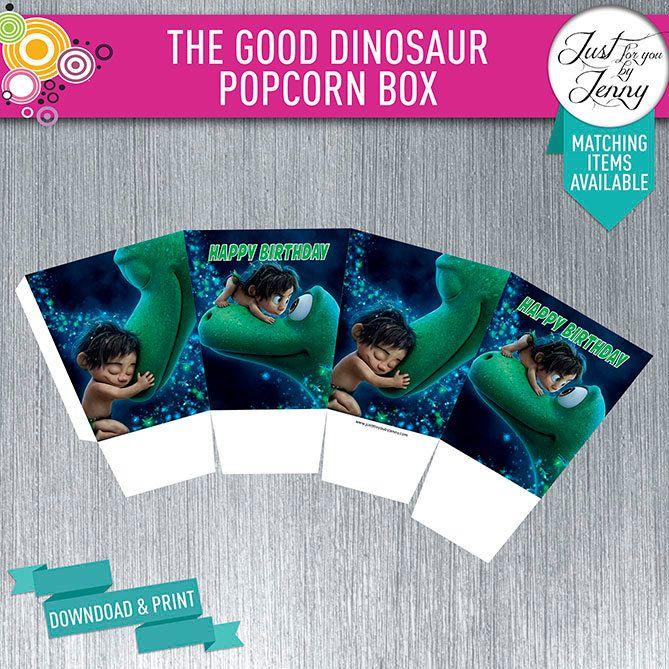 THE GOOD DINOSAUR Popcorn box - Instant Download Digital by JustForYouByJenny on Etsy