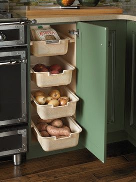 Pull-Out Trays - traditional - Kitchen - Other Metro - Wood-Mode Fine Custom Cabinetry