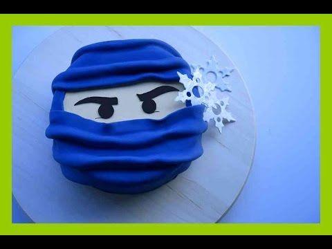 Ninjago Fondant Torten Tutorial - Ninjago Torte - Einfache Ninjago Torte - Kuchenfee - YouTube