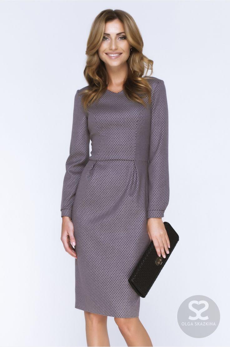 Офисный стиль одежды. Платье из костюмной ткани в интернет-магазине.   Skazkina