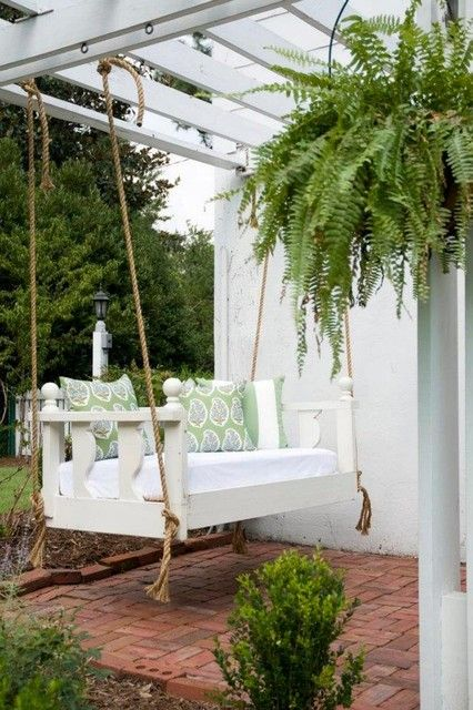Bed porch swing in Charleston, SC. One of our boutique towns!