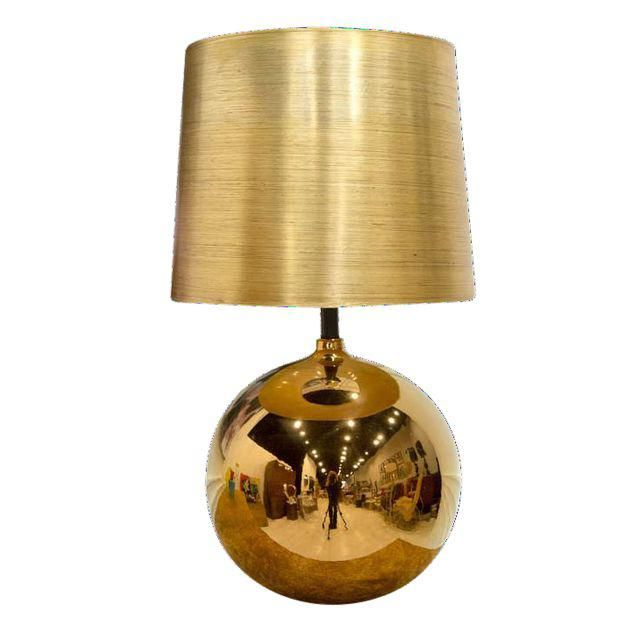 Gold Orb Shaped Table Lamp Table Lamp Lamp Pendent Lighting