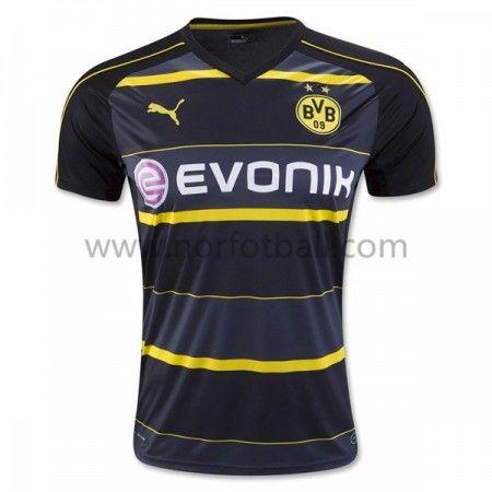 Billige Fotballdrakter BVB Borussia Dortmund 2016-17 Borte Draktsett Kortermet