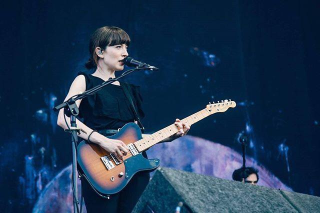 Elena on stage at Longitude Festival in Dublin's Marlay Park yesterday! ~  @longitudefest #ohdaughter #longitude2016