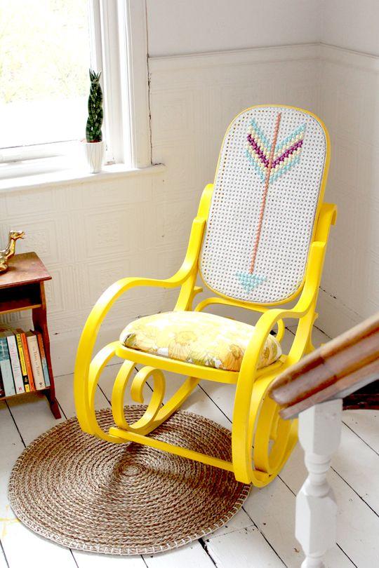 Sometimes you see a broken piece of furniture and think I just don't have the skill set to restore this. That is exactly what I thought when I saw the can rocking chair in a local junk store. The seat